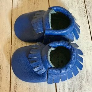 Other - Baby Moccasins genuine leather, New